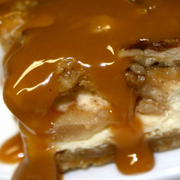 Cheesecake Factory Warm Caramel Topped Apple Cheesecake