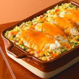 Cheesy Chicken and Rice Bake
