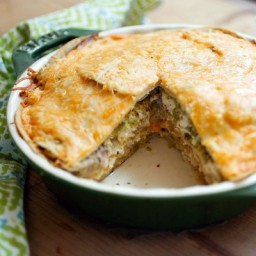 Cheesy Enchilada Pie