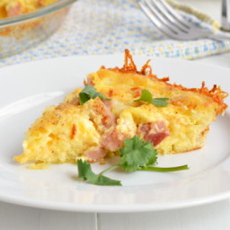 Cheesy Hash Brown Quiche