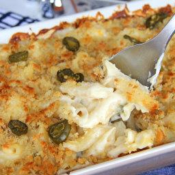 Cheesy Jalapeno Popper Baked Penne