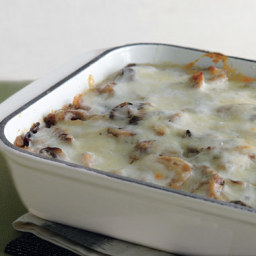 Cheesy Polenta Lasagne with Mushrooms and Seitan