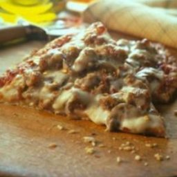 Cheesy Sausage and Mushroom Pizza