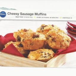 Cheesy Sausage Muffins