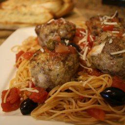 Cheesy Spaghetti and Meatballs