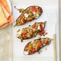 Cheesy Stuffed Eggplants
