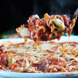 Cheesy Tortellini Ragu Vegetable Al Forno