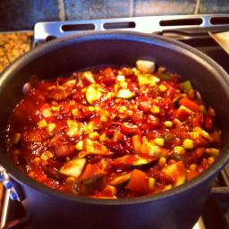 Cheesy Vegetable Chili