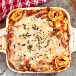 Cheesy Baked Tortellini Casserole