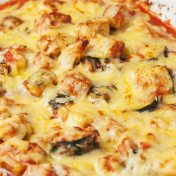 Cheesy Chicken and Zucchini Bake