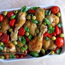 Cherry Tomato Pressure Cooker Chicken Cacciatore