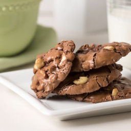 Chewy Flourless Chocolate Cookies with Cashews