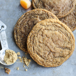 Chewy Ginger Orange Cookies
