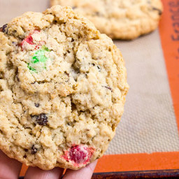 Chewy Oatmeal Raisin M and M Cookies