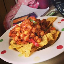 Chick Pea and Lentil Nachos