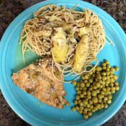 Chicken and Artichoke Scampi