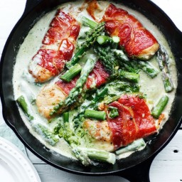 Chicken and Bacon in Pesto Sauce