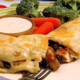 Chicken and Black Bean Enchiladas with Gooey Jack Cheese