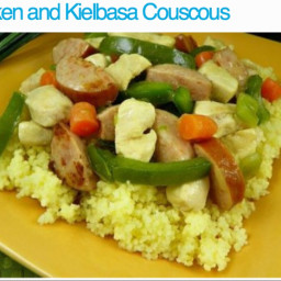 Chicken and kielbasa couscous