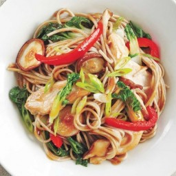 Chicken and Vegetable Soba Noodle Stir-Fry