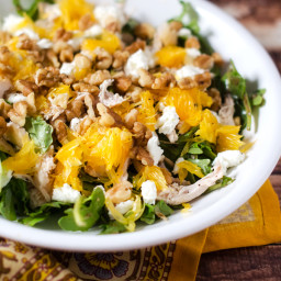 Chicken Arugula Salad with Oranges and Goat Cheese