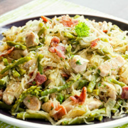 Chicken Asparagus Carbonara Recipe