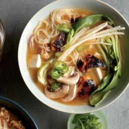 Chicken-Bok Choy Noodle Bowls