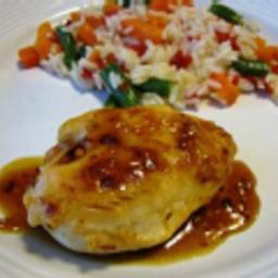 Chicken Breasts with Spicy Honey-Orange Glaze