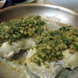 Chicken Breasts with Walnut Aillade