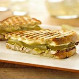 Chicken, Brie, and Pickle Panini