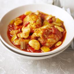 Chicken, butter bean and pepper stew