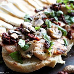 Chicken Caprese Sandwich with Mushrooms and Sun-dried Tomatoes