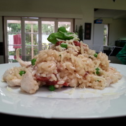Chicken, Chorizo and Pea Risotto