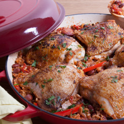 Chicken & Chorizo Rice Bake