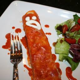 Chicken Enchilada Mummies