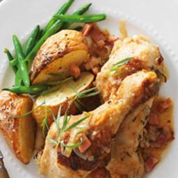 Chicken, leek and bacon casserole