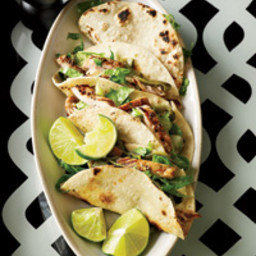 Chicken & Poblano Tacos with Crema