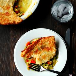 Chicken Pot Pie - Lightened up and Dairy Free