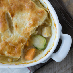 Chicken pot pie with Winter vegetables
