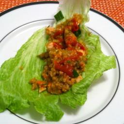 Chicken Quinoa Lettuce Wraps