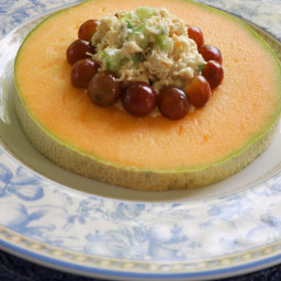 Chicken Salad in Cantaloupe