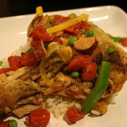 Chicken, Sausage, & Rice Skillet