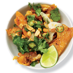 Chicken Skin with Peanuts, Chiles, and Lime