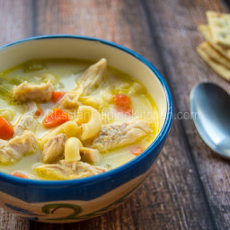 Chicken Sopas Filipino-Style (Creamy Chicken Macaroni Soup)