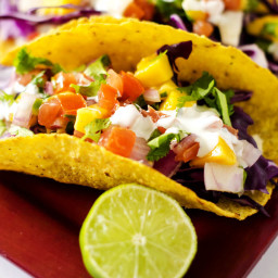 Chicken Tacos with Lime Mango Salsa
