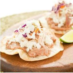 Easy Chicken Tostadas with Spicy Cabbage Slaw