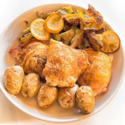 Chicken With Crispy Artichoke Hearts