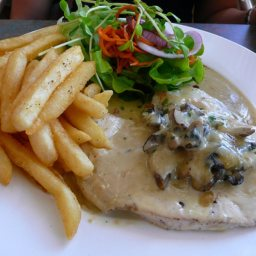 Chicken With Spinach and Mushroom Sauce