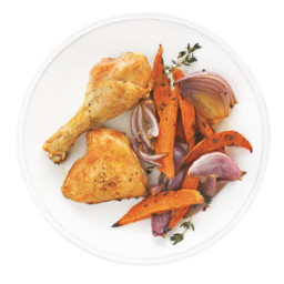 Chicken with Sweet Potatoes and Onions