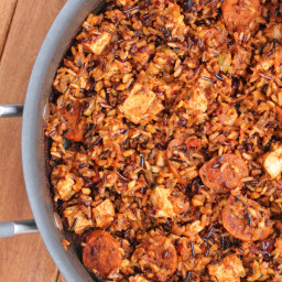 Chicken and Chorizo Salsa Skillet